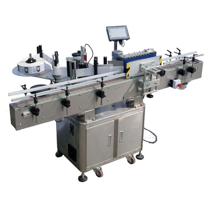 Automatický štítkovací stroj na kulaté lahve