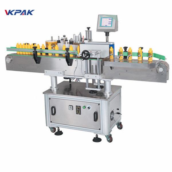 Automatický štítkovací stroj s kulatou lahví na jedné straně
