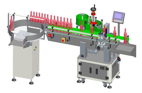 Automatické vertikální transparentní štítky s červeným vínem Podrobnosti o štítkovacím stroji