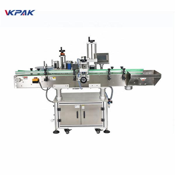 Automatický vertikální čtvercový láhve Čtyřstranný etiketovací stroj
