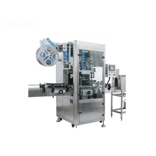 Automatický etiketovací stroj s uzavíracím víčkem na hrdlo