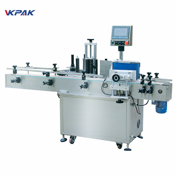 Levný automatický štítkovací stroj na kulaté lahve se čtvercovými lahvemi