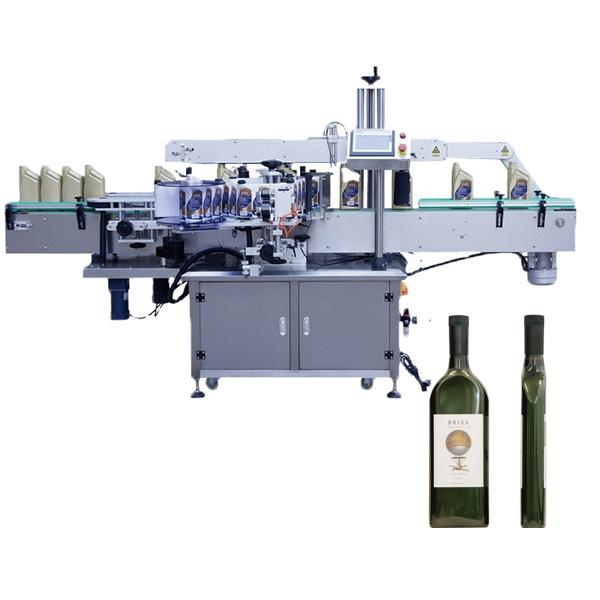 Stroj na označování plochých lahví