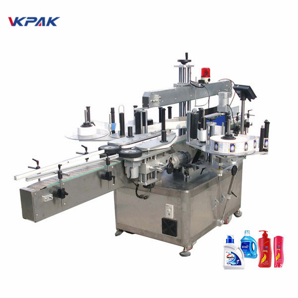 Vysokorychlostní pneumatický automatický oboustranný stroj na označování plochých lahví