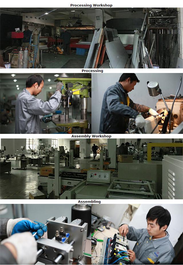 Zpracování pro výrobu etiketovacího stroje na výrobu plochých lahví a kartonů