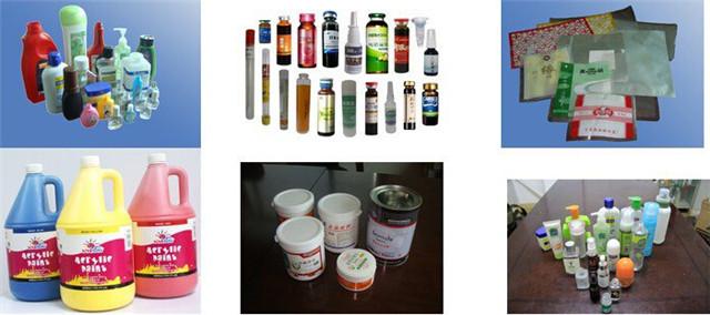 Ukázky pro přizpůsobený rotační etiketovací stroj s formami pro držení kontejnerů